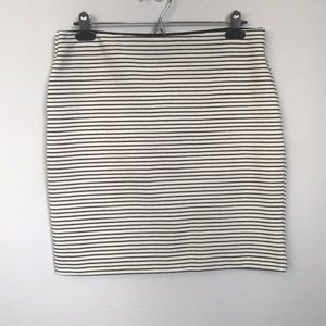Loft Petites Striped Stretch Pencil Skirt